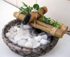 Mini fonte de água - passo a passo !  Hoje você vai aprender a fazer uma mini-fonte de água decorativa ideal para um espaço pequeno, para sua