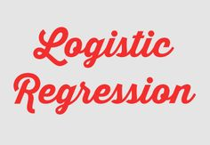 Logistic regression is a method for fitting a regression curve, y = f(x), when y is a categorical variable. The typical use of this model is predicting y given a