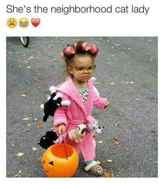 Neighborhood Cat Lady...these are the BEST Homemade Halloween Costume Ideas for Babies & Kids!