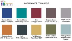 2015- Paint-Colors-for-Front-Doors - Mary Habres, Certified Paint Color Consultant