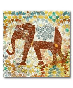 Look at this #zulilyfind! Global Elephant Wrapped Canvas #zulilyfinds
