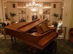 A grand piano...this one is the Cole Porter piano, circa 1939, residing in the Waldorf Astoria Towers, NYC. Actually played it! (and it was beautiful!)