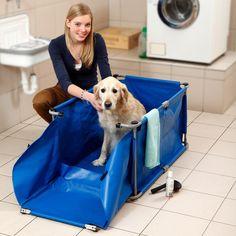 Karlie 11111 Doggy Shower für große Hunde 100 x 61.6 cm x 50 cm, blau: Amazon.de: Haustier