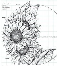 #2531 Relief Carving Patterns - Sunflower Clock - Wood Carving