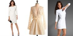 NWT White Sheer Long Sleeve Wrap Dress Elastic Waist Tulip Skirt