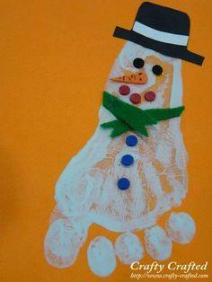 DIY Christmas Hand Print and Foot Print Art