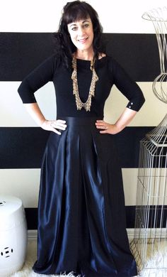 Black Bridal Satin Katie Ball Skirt full pleated and gathered Maxi skirt for formal party or bridesmaids. $120.00, via Etsy.
