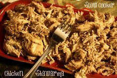 Slow Cooker Chicken Shwarma