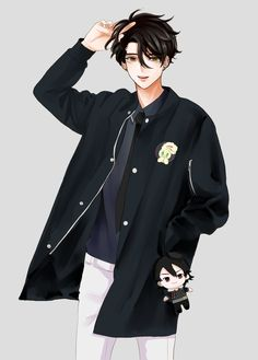 He looks like a mix between JD from heathers and Jumin Han from MM - Best anime list Hot Anime Boy, Cool Anime Guys, Handsome Anime Guys, Anime Boys, Manga Anime, Manga Boy, Anime Boy Zeichnung, Image Manga, Estilo Anime
