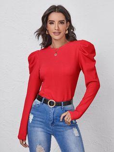 Blouse Designs, Long Sleeve, Sleeves, Women, Fashion, Pants, Blouses, Bling Shirts, Wrap Shirt