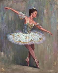 Ballet Dancer by Wil Cormier Ballet Art, Ballet Dancers, Ballerinas, Ballerina Painting, Ballerina Art, Dance Paintings, Dance Like No One Is Watching, Shall We Dance, Best Portraits