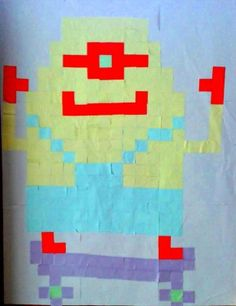 [Art visuel] Pixel art en post-it – cycle 3 | Mon école
