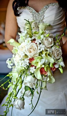 cascading wedding bouquets   Lovely Flowers by E & E Flowers , Edison NJ