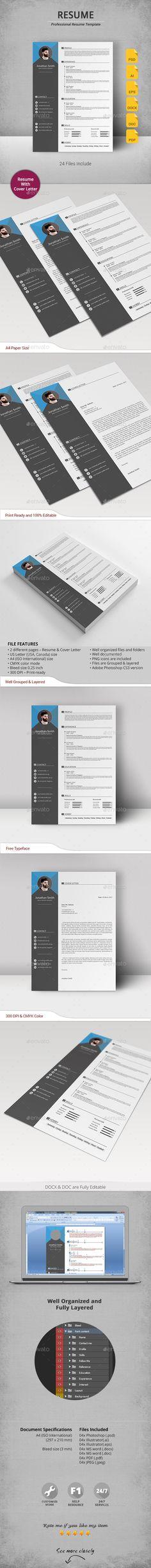Resume Template PSD Vector EPS AI DOCX