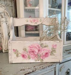 "Antique Shabby Chic Pink Roses Panel by Debi Coules Figure out additional relevant information on ""shabby chic furniture"". Visit our web site.Figure out additional relevant information on ""shabby chic furniture"". Visit our web site. Comedor Shabby Chic, Cocina Shabby Chic, Muebles Shabby Chic, Shabby Chic Dining, Shabby Chic Living Room, Shabby Chic Bedrooms, Shabby Chic Homes, Shabby Chic Furniture, Furniture Vintage"