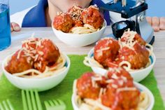 Try these atomic science inspired spaghetti and meatballs to impress your budding physicists.