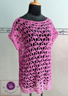 Lacy Oversized Top...Lacy and pretty,and very do-able...free crochet pattern!