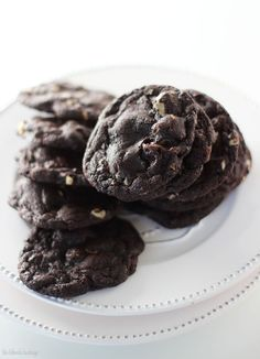 Dark chocolate Panera Duet Cookies... I used all special dark cocoa powder... omg are they good.