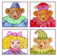 Goldilocks and the Three Bears finger puppets and tutorial for puppet show.