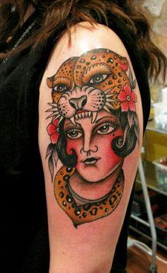 20 Fierce Old School Leopard Tattoos Head Tattoos, Mom Tattoos, Tattoos For Women, Snow Leopard Tattoo, Leopard Tattoos, Jaguar, Traditional Heart Tattoos, Big Cat Tattoo, Tatuaje Old School