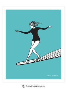 Dancing On Water Art Print