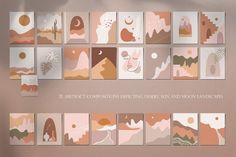 collection includes: - 25 images of desert, sun and m.s textures (eps vector files, jpeg files Simple Canvas Paintings, Small Canvas Art, Mini Canvas Art, Diy Canvas, Acrylic Painting Canvas, Diy Painting, Easy Canvas Art, Mini Toile, Minimalist Painting