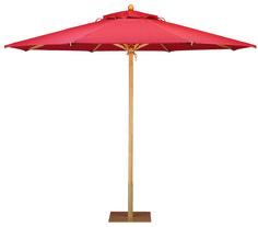 Santa Barbara umbrella in maple, with Regatta Mango canopy.