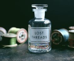 [sometimesmymindwanders]  etched apothecary bottle by www.vinegarandbrownpaper.co.uk