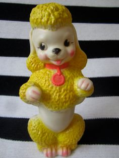 Sun Rubber Company Fifi the Poodle Squeak toy by katehartxoxo