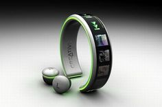 Mp3 player you wear on your wrist with CORDLESS ear buds… yeah.. I want that!