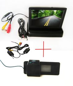 47.18$  Buy here  - Wireless Color CCD Car Rear View Camera for Chevrolet Aveo Trailblazer Opel Mokka Cadillas SRX CTS,with 4.3Inch foldable Monitor