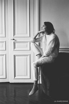 From La Garçonne/The Interlude: Acne Studios Oxid Mohair Knit, Isabel Marant Ravena Pant Between life's obligations, between winter and spring, an interlude: giving oneself a moment of peace and. Creative Photography, Photography Poses, Fashion Photography, Acne Studios, Isabel Marant, Fall Inspiration, Socks Outfit, Fashion Designer, How To Pose