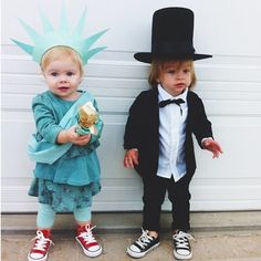 Baby Abe Lincoln and Baby Statue of Liberty just hanging out together.no big deal  sc 1 st  Pinterest & 8 best Lady liberty costume images on Pinterest | Statue of liberty ...