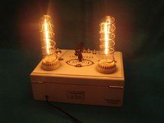 Steampunk cigar box dimming lamp with digital by pinkgypsyart, $100.00