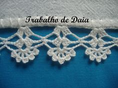 Photo: Work nº 25 - Dish cloth with crochet hook. Crochet Boarders, Crochet Edging Patterns, Crochet Lace Edging, Love Crochet, Filet Crochet, Crochet Designs, Crochet Doilies, Crochet Flowers, Crochet Stitches