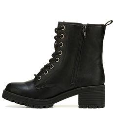 Madden Girl Women's Eloisee Combat Boots (Black) - 7.0 M