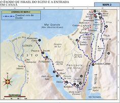 BIBLIA EM PAUTA: Os 42 Acampamentos de Israel Durante sua Peregrinação no Deserto Nm.33:3-49