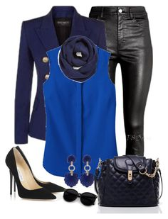 """""""black e blue"""" by daianetavares310 ❤ liked on Polyvore featuring H&M, TravelSmith, Kenneth Jay Lane, Jimmy Choo and BP."""