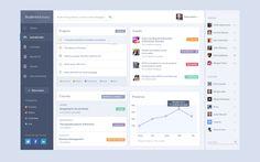 Beautiful student dashboard design found on Dribbble. Student Dashboard, Web Dashboard, Dashboard Design, Ui Ux Design, Layout Design, Student App, Student Portal, Ui Patterns, Business Essentials