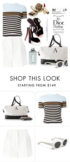 """""""Marine Layer: Striped Shirts"""" by snje2105 ❤ liked on Polyvore featuring T By Alexander Wang, Dolce&Gabbana and stripedshirt"""