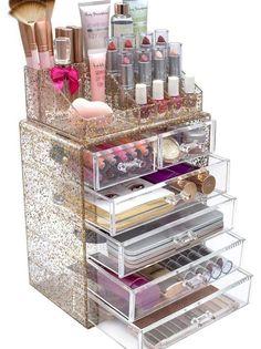 Makeup Storage Case, Make Up Storage, Makeup Organization, Makeup Case, Rangement Makeup, Palette Organizer, Makeup To Buy, Glitter Makeup, Beauty Room