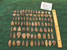 85 PC Tennessee Arrowhead Collection Indian Artifact Lot Drills BLUNTS Spears
