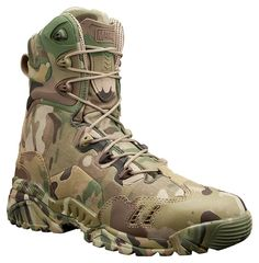 Magnum Spider 8.1 HPI Multicam Boot -- A very lightweight assault boot for active operators and trainers in need of speed and performance. Utilizes genuine Crye Precision MultiCam through the entire boot. Highly breathable for desert environments.