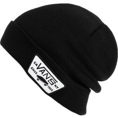 Vans Milford Beanie ($20) ❤ liked on Polyvore featuring accessories, hats, beanie, headwear, beanie hats, vans beanie and vans hat
