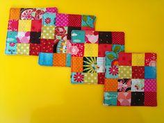 ana sinhana: Modo de fazer: coaster de quadradinhos
