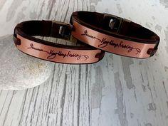 Couples Bracelets Set 2 Pc SetActual Handwriting by tovvanda