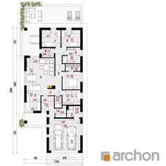 projekt Dom w modrzewnicy 2 rzut parteru Dream House Plans, House Layouts, Bungalow, Sweet Home, Floor Plans, Flooring, How To Plan, Architecture, Home Decor