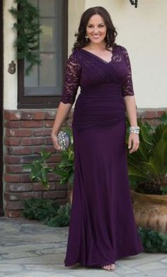 K co plus size dresses in purple | Color dress | Pinterest