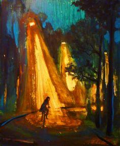"Saatchi Online Artist: John Defeo; Acrylic, 2012, Painting ""Night Ride"""