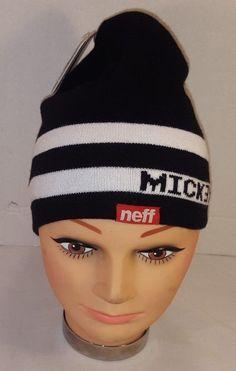 242db807469 NEW NEFF X DISNEY MICKEY STRIPED WOMEN S BEANIE WINTER HAT NWT  Neff  Beanie  Hats